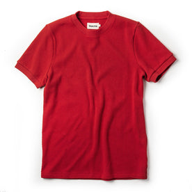The Heavy Bag Waffle Short Sleeve in Cardinal: Featured Image