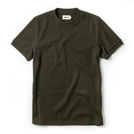 The Heavy Bag Waffle Short Sleeve in Olive: Featured Image