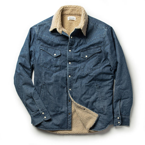 The Western Shirt Jacket in Indigo - featured image