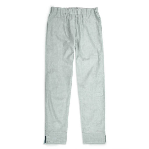 The Isla Pant in Seafoam Striped Cotton - featured image