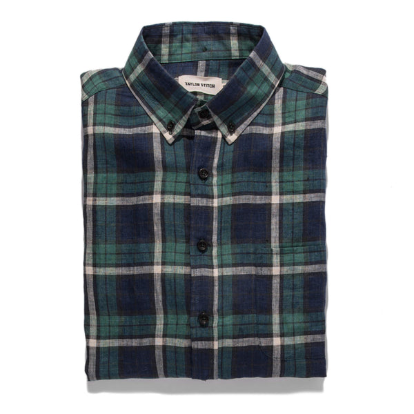 7002a8509c The Jack in Blackwatch Plaid Linen