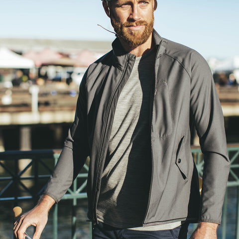 The Commuter Jacket in Steel MerinoPerform™ - alternate view