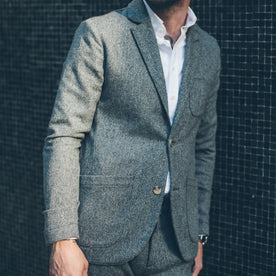 The Telegraph Jacket in Ash Tweed Herringbone: Alternate Image 5