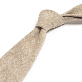 Khaki Linen Chambray Tie: Alternate Image 1