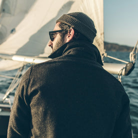 The Maritime Shirt Jacket in Charcoal Donegal Wool: Alternate Image 4