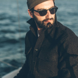 The Maritime Shirt Jacket in Charcoal Donegal Wool: Alternate Image 5