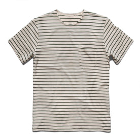 The Mercerized Merino Tee in Forest Stripe: Featured Image