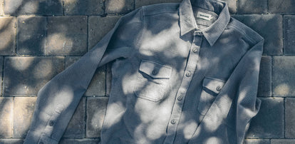 The Utility Shirt in Charcoal Jacquard workshop header