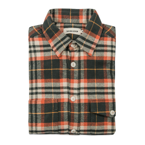The Crater Shirt in Olive Plaid - featured image