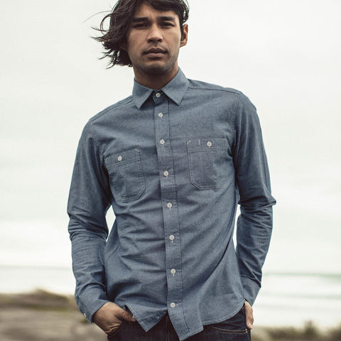 The California in Blue Everyday Chambray - alternate view