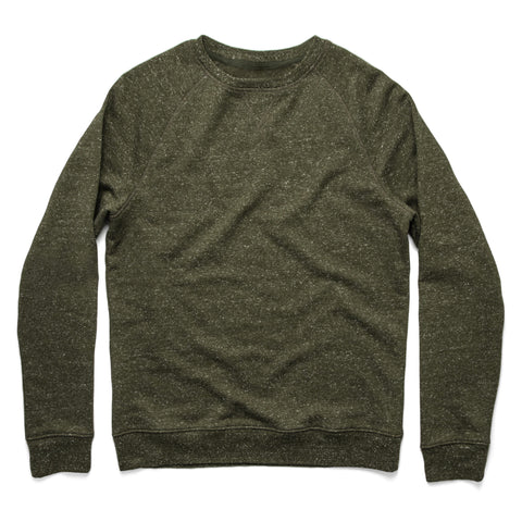 The Crewneck in French Terry Heather Olive - featured image