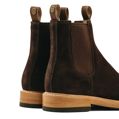 The Ranch Boot in Weatherproof Chocolate Suede: Alternate Image 12