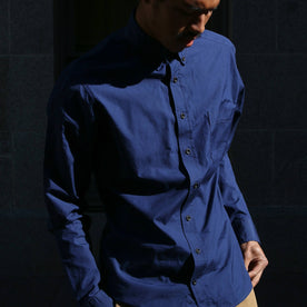Our fit model wearing navy