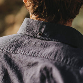 Close up shot of the back of the Jack worn by our fit model