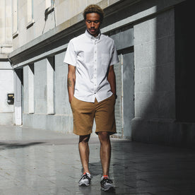 The Short Sleeve California in White Poplin: Alternate Image 2