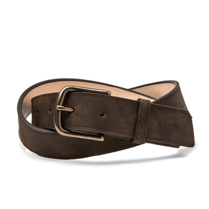 The Stitched Belt in Espresso Grizzly: Featured Image