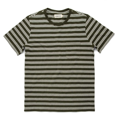 The Heavy Bag Tee in Cypress Stripe: Featured Image