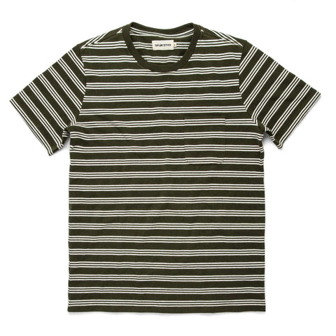 The Heavy Bag Tee in Cypress Stripe - featured image