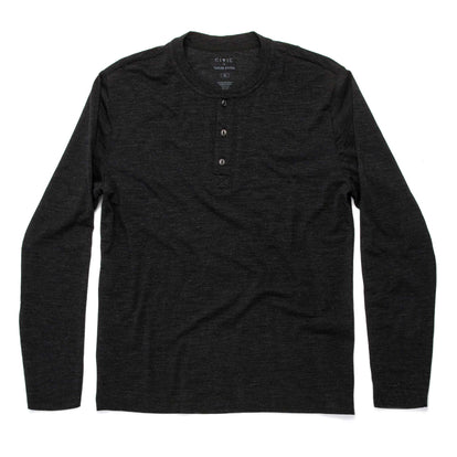 The Zaha Henley in Heather Black: Featured Image