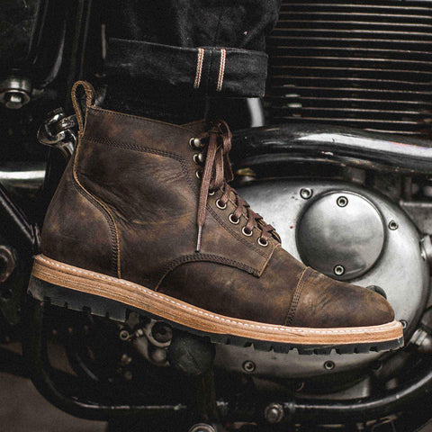 The Moto Boot in Espresso Grizzly - alternate view