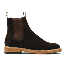 The Ranch Boot in Weatherproof Chocolate Suede: Featured Image