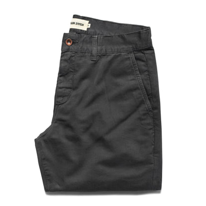 The Slim Chino in Organic Charcoal: Featured Image