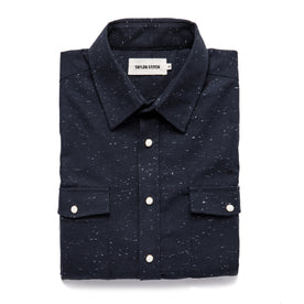 The Glacier Shirt in Navy Nep Twill: Featured Image
