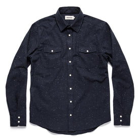 The Glacier Shirt in Navy Nep Twill: Alternate Image 8