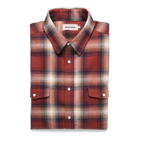The Glacier Shirt in Red Plaid - featured image