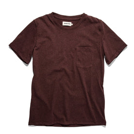 The Heavy Bag Tee in Burgundy: Featured Image