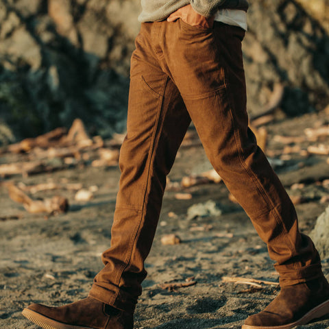 The Chore Pant in Timber Boss Duck - alternate view