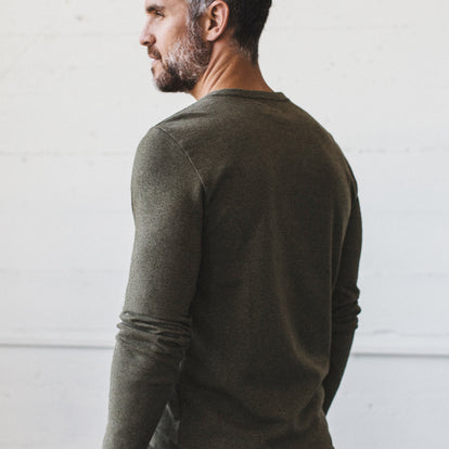The Heavy Bag Henley in Fatigue Green: Alternate Image 4
