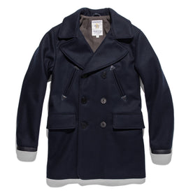 The Mendocino Peacoat in Navy Melton Wool - featured image