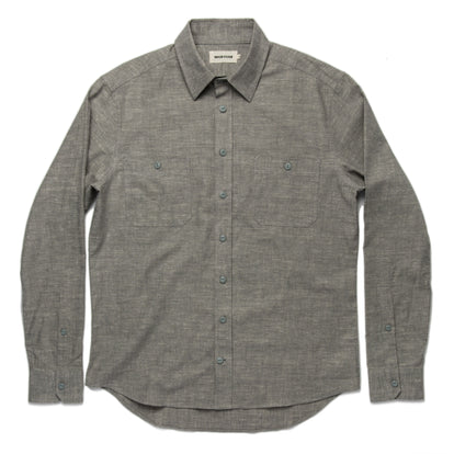 The California in Olive Hemp Chambray: Alternate Image 8