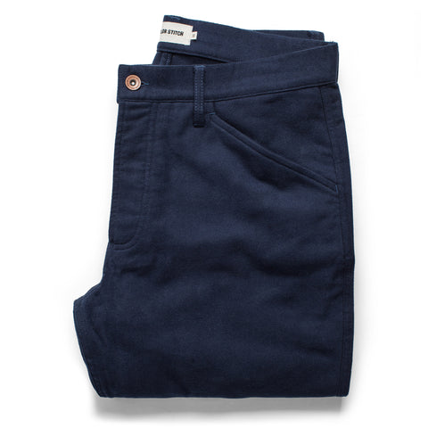 The Camp Pant in Navy Moleskin - featured image