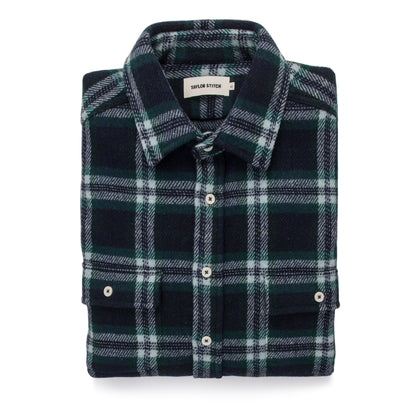 The Leeward Shirt in Navy Tartan: Featured Image