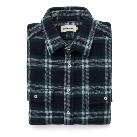 The Leeward Shirt in Navy Tartan - featured image