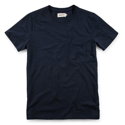 The Heavy Bag Tee in Navy: Featured Image