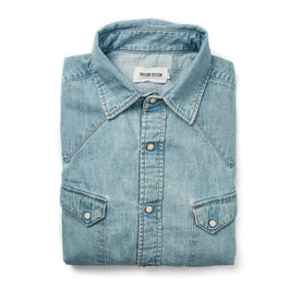 The Western Shirt in Washed Indigo: Featured Image