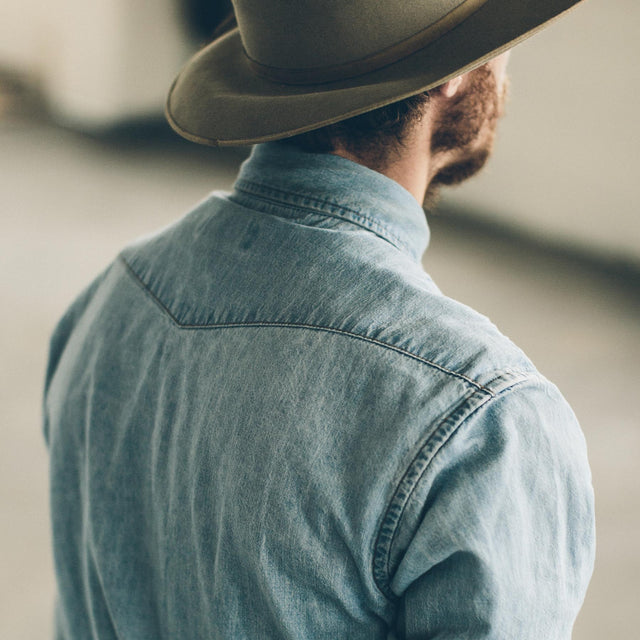 The Western Shirt in Washed Indigo
