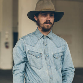 The Western Shirt in Washed Indigo: Alternate Image 5