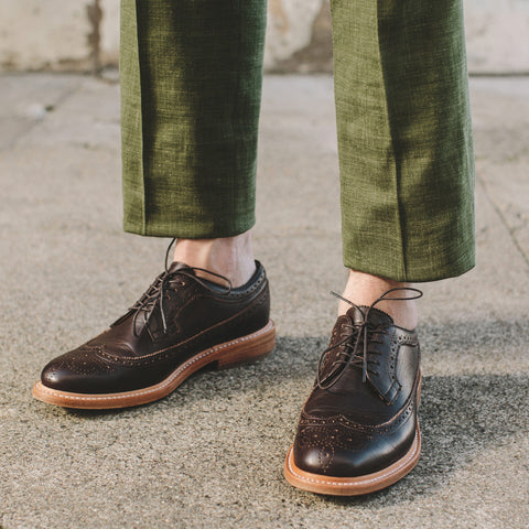 The Brogue in Espresso Leather - alternate view