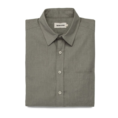 The California in Olive Hemp Poplin: Featured Image
