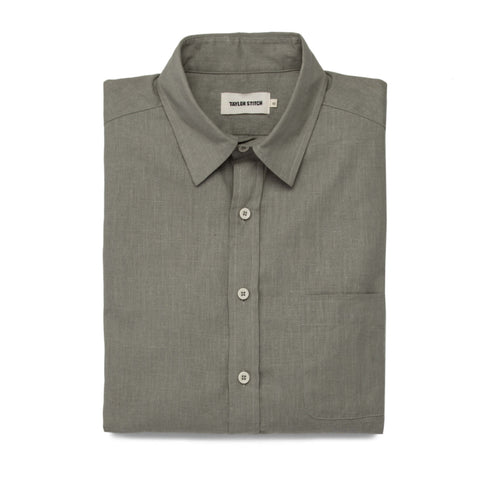 The California in Olive Hemp Poplin - featured image