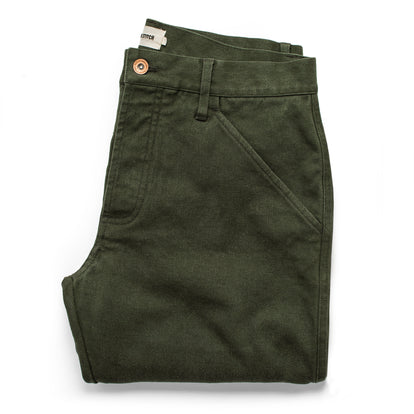 The Camp Pant in Dark Olive Tuff Duck: Featured Image