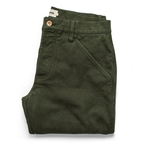 The Camp Pant in Dark Olive Tuff Duck - featured image