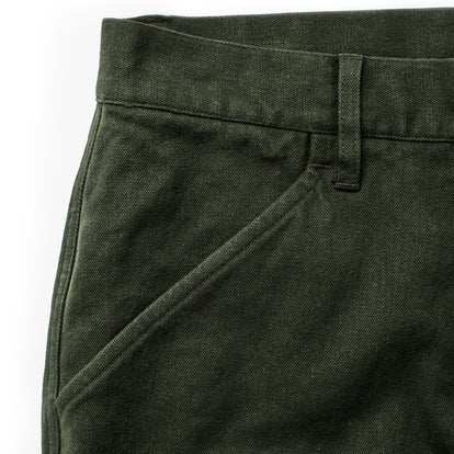 The Camp Pant in Dark Olive Tuff Duck: Alternate Image 11
