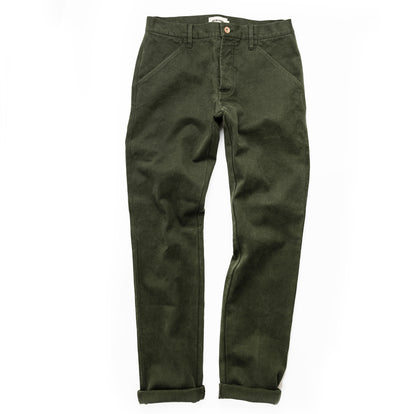 The Camp Pant in Dark Olive Tuff Duck: Alternate Image 12