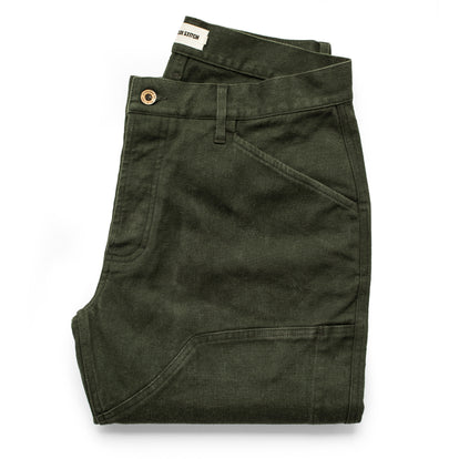The Chore Pant in Dark Olive Boss Duck: Featured Image