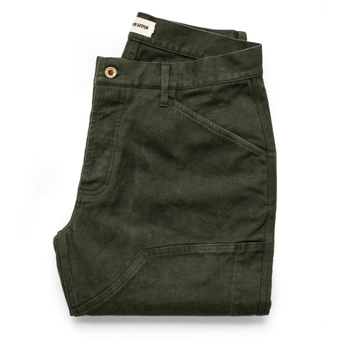 The Chore Pant in Dark Olive Tuff Duck - featured image